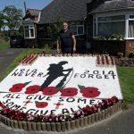 John Davies at Remembrance memorial