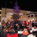 Santa lighting up the tree